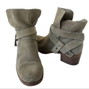 UGG Women's Elora Suede Ankle Boots Sahara Size 9